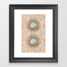 Meeting Circles Framed Art Print