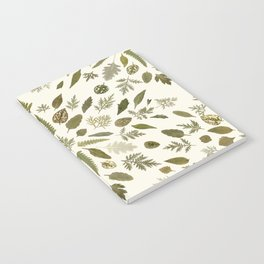 Collage of Leaves Notebook