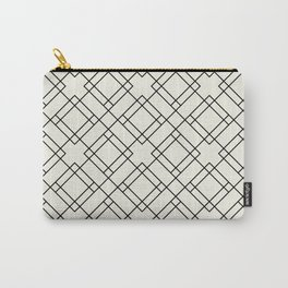 Simply Mod Diamond Black and Cream Carry-All Pouch