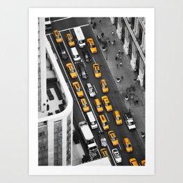 Yellow Cab NYC Art Print