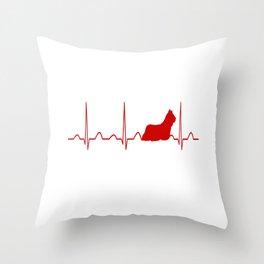 Skye Terrier Heartbeat Throw Pillow