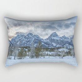 Sunset Behind the Tetons Rectangular Pillow