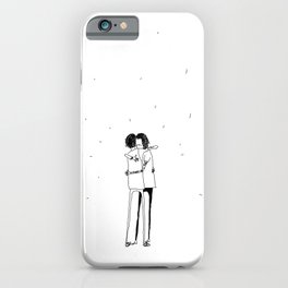 they hugged iPhone Case