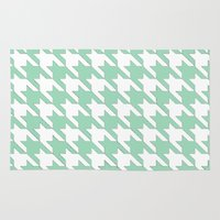 tooth Area & Throw Rugs featuring Mint Tooth by Project M