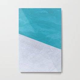 concrete blue Metal Print