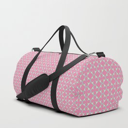 Soft Quatrefoil Pattern in Pink, Yellow & Green Duffle Bag