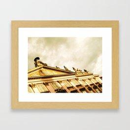 Baroque Sky and Building Framed Art Print
