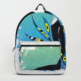 Cute Orca Whale Doodle Ink Teal Pattern Backpack