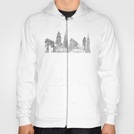 NYC Landmarks by the Downtown Doodler Hoody
