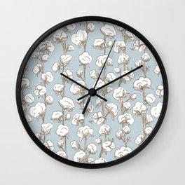Farmhouse Cotton Stalks Wall Clock
