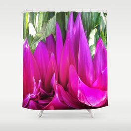 459 = Abstract Flower Design Shower Curtain