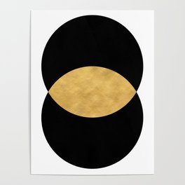 VESICA PISCES CIRCLE ABSTRACT GEOMETRIC SYMBOL Poster