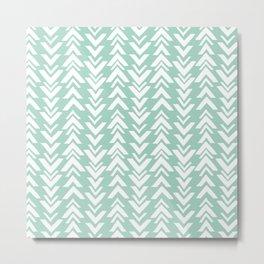 Seafoam Green Arrowheads Metal Print
