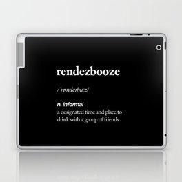 Rendezbooze black and white contemporary minimalism typography design home wall decor black-white Laptop & iPad Skin