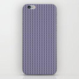 Black and Lavender Skulls iPhone Skin