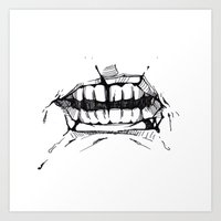 rooster teeth Art Prints featuring Teeth by Tanya_Vazh