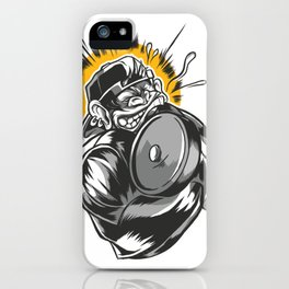 monkey dumbbell  iPhone Case