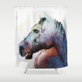 Horse (Kolorowy) Shower Curtain