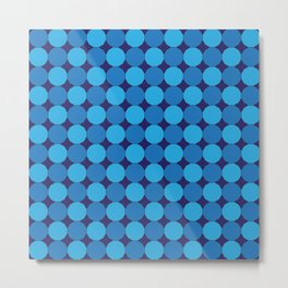 Triple Blue Dodecagons Metal Print