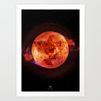 paramore Art Prints featuring Gravity Levels: Red Planet by Sitchko