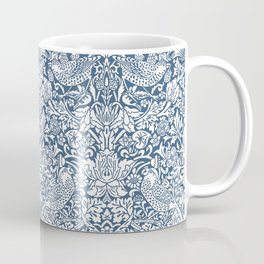 William Morris Navy Strawberry Thief Pattern Coffee Mug