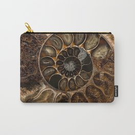 Earth treasures - Fossil in brown tones Carry-All Pouch