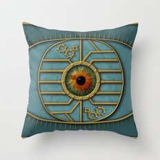 Steampunk Security Throw Pillow