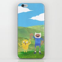 finn and jake iPhone & iPod Skins featuring Finn And Jake! by Ben Morgan