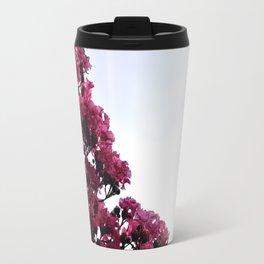 Pink Flowers and Sky Travel Mug