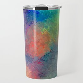 Reflecting Multi Colorful Abstract Prisms Design Travel Mug