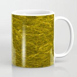 Horizontal metal texture of bright highlights on gold waves. Coffee Mug