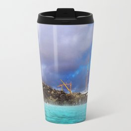 Construction at the Blue Lagoon Geothermal Spa in Iceland Travel Mug