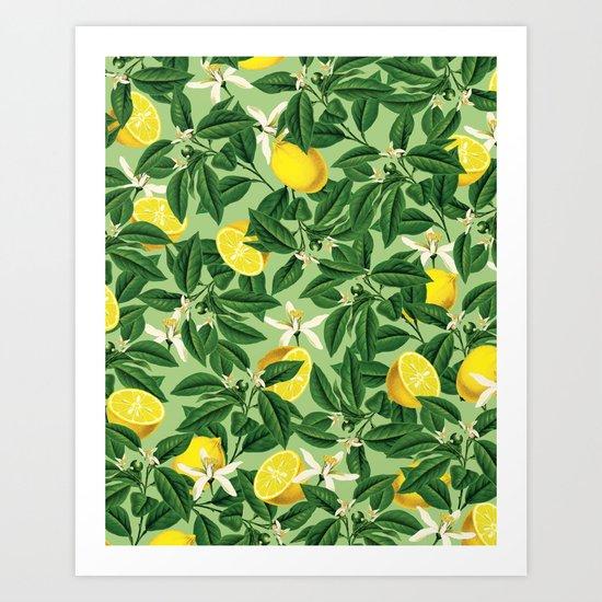 Lemonade || #society6 #decor #pattern Art Print