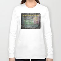 periodic table Long Sleeve T-shirts featuring Old School Periodic Table Of Elements - Chalkboard Style by Mark E Tisdale