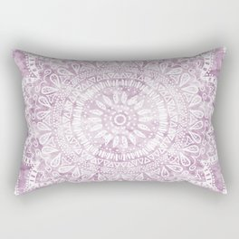 BOHEMIAN FLOWER MANDALA IN PINK Rectangular Pillow