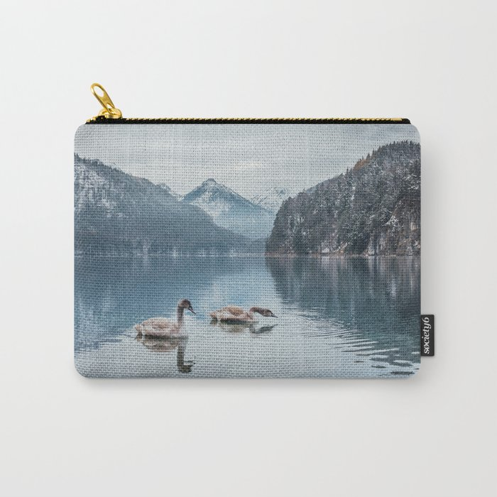 Swans on the Apsee lake, Bavrian alps Carry-All Pouch