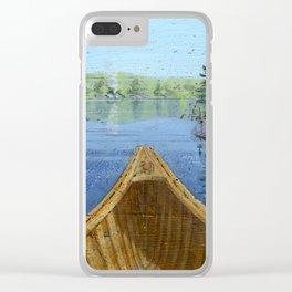 canoe bow Clear iPhone Case