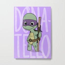 TMNT: Donatello (Cute & Dangerous) Metal Print