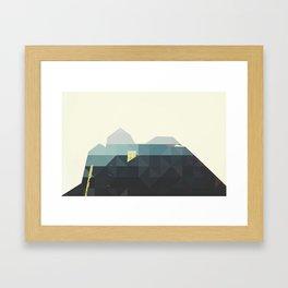 GEOMETRIC BUILDINGS Framed Art Print