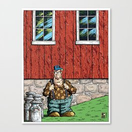 Walter: Portrait With Milk Cans Canvas Print