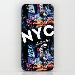NEW-YORK (LIBERTEE CITY) iPhone Skin