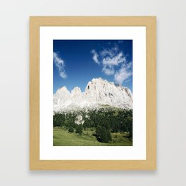 view of the Dolomites Framed Art Print