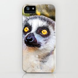 Lemur #lemur #animals iPhone Case
