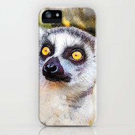Lemur #lemur #animals iPhone Case