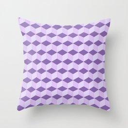 Blue shadow blocks Throw Pillow