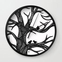 The Moon Tree Wall Clock