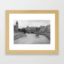 Les Bateaux Mouches Framed Art Print