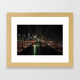 You'll never walk alone - Brooklyn Bridge Framed Art Print