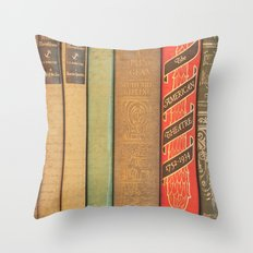 Bookishly Inspired Throw Pillow