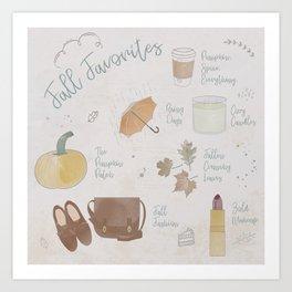 Fall Favorites Art Print